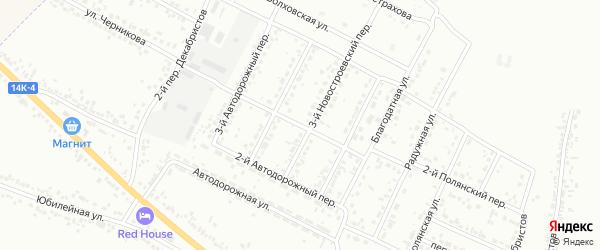Новостроевский 1-й переулок на карте Белгорода с номерами домов