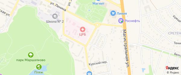 Центральный переулок на карте Строителя с номерами домов