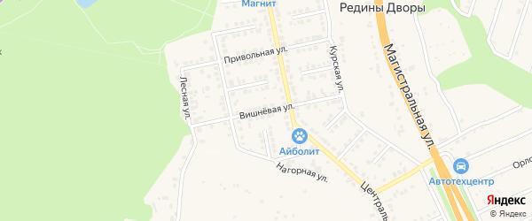 Вишневая улица на карте Строителя с номерами домов