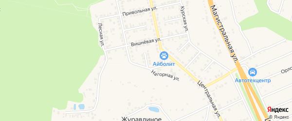 Белгородский переулок на карте Строителя с номерами домов