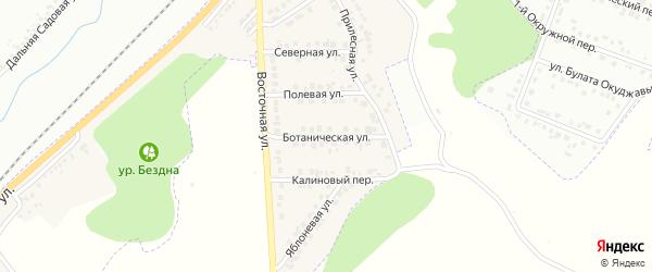 Ботаническая улица на карте Майского поселка с номерами домов