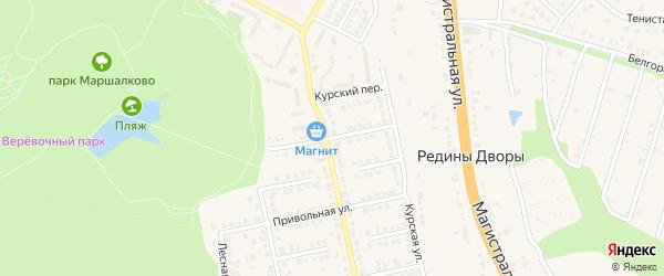 Улица Некрасова на карте Строителя с номерами домов