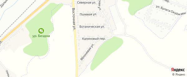Калиновый переулок на карте Майского поселка с номерами домов