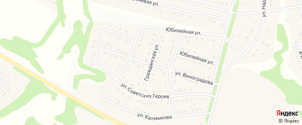 Гражданская улица на карте Стрелецкого села с номерами домов