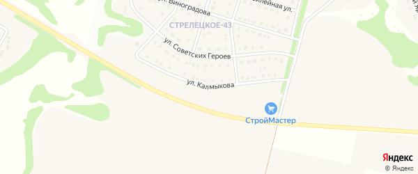 Улица им Калмыкова на карте Стрелецкого села с номерами домов