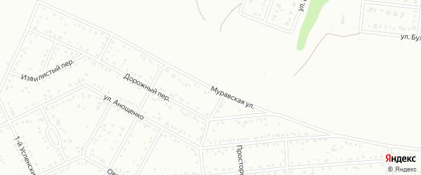 Муравская улица на карте Белгорода с номерами домов