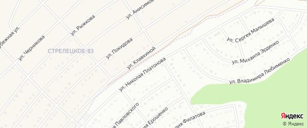 Улица Николая Платонова на карте Белгорода с номерами домов