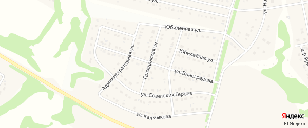 Улица им Виноградова на карте Стрелецкого села с номерами домов