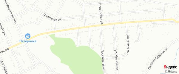 Малый 2-й переулок на карте Белгорода с номерами домов