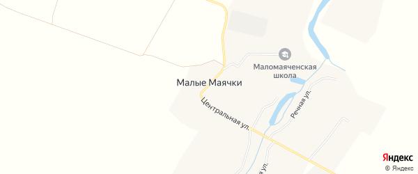 Карта села Малые Маячки в Белгородской области с улицами и номерами домов