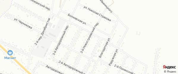 Новостроевский 3-й переулок на карте Белгорода с номерами домов