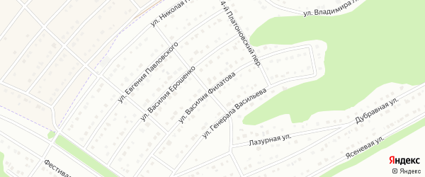Улица Василия Филатова на карте Белгорода с номерами домов