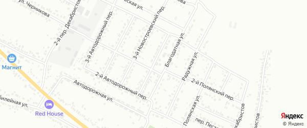 Новостроевский 4-й переулок на карте Белгорода с номерами домов