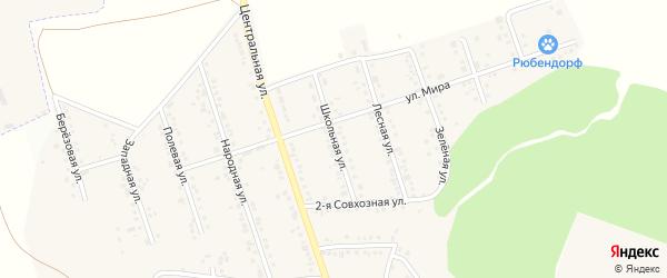 Школьная улица на карте Репного села с номерами домов