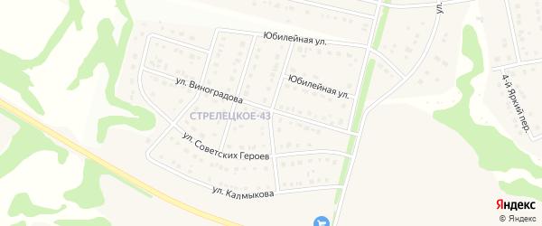 Историческая улица на карте Стрелецкого села с номерами домов
