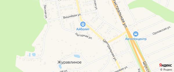 Нагорная улица на карте Строителя с номерами домов
