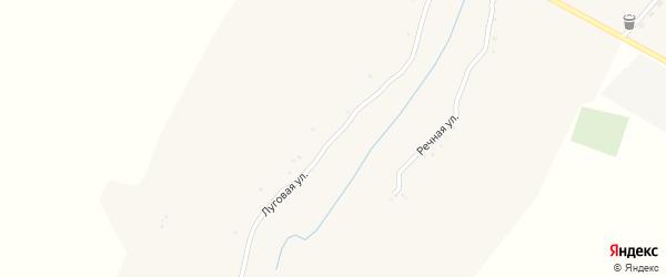 Луговая улица на карте села Малые Маячки с номерами домов
