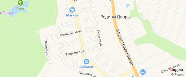 Лермонтовский переулок на карте Строителя с номерами домов