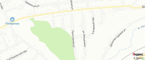 Просторная улица на карте Белгорода с номерами домов