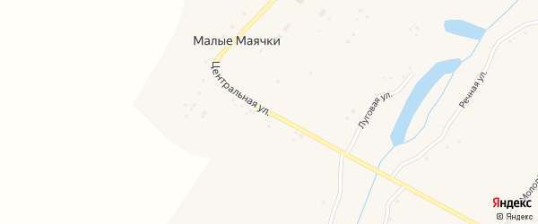 Центральная улица на карте села Малые Маячки с номерами домов