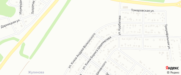 Улица Князя Волконского на карте Белгорода с номерами домов