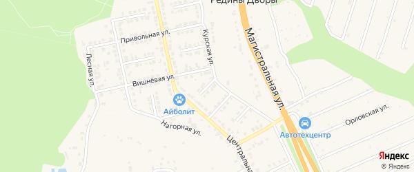 Дорожный переулок на карте Строителя с номерами домов
