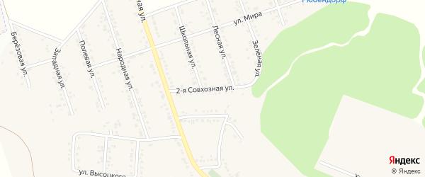 Совхозная 2-я улица на карте Репного села с номерами домов