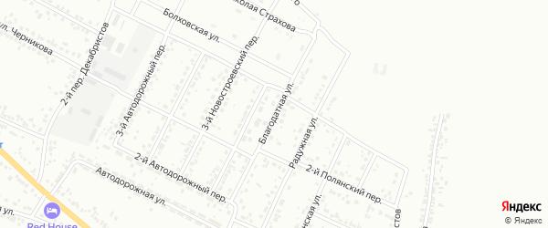 Благодатная улица на карте Белгорода с номерами домов