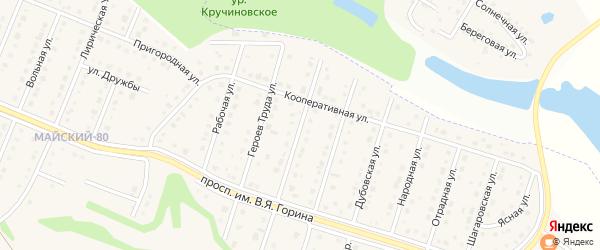 Урожайная улица на карте Майского поселка с номерами домов