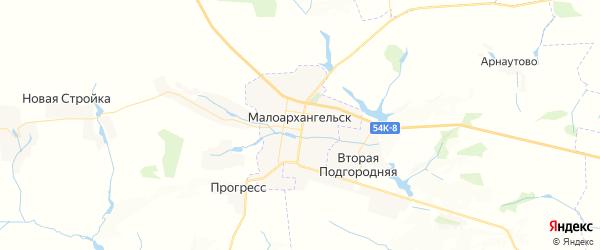 Карта Малоархангельска с районами, улицами и номерами домов