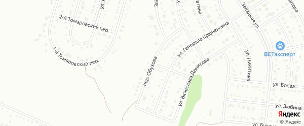 Переулок Обухова на карте Белгорода с номерами домов