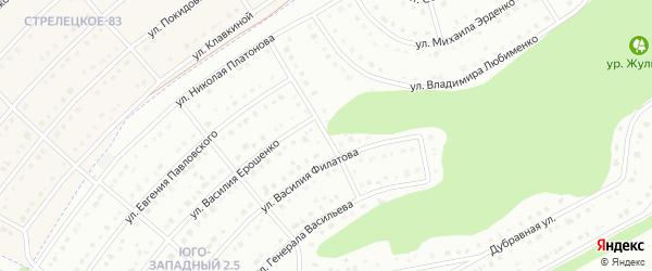 Платоновский 4-й переулок на карте Белгорода с номерами домов