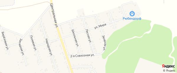 Лесная улица на карте Репного села с номерами домов