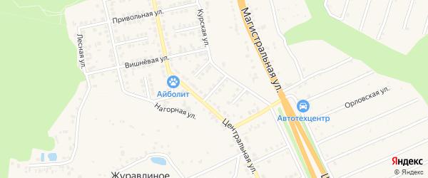 Степной переулок на карте Строителя с номерами домов