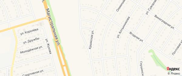 Олимпийская улица на карте Строителя с номерами домов