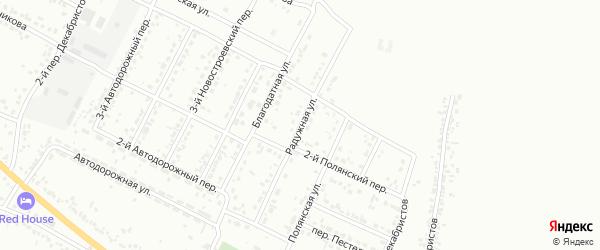 Радужная улица на карте Белгорода с номерами домов