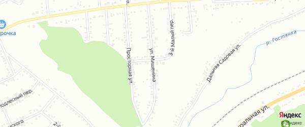 Улица им лейтенанта Мишенина на карте Белгорода с номерами домов