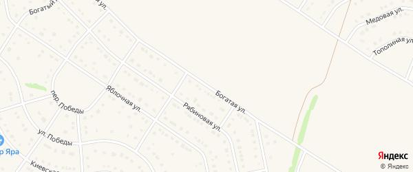 Богатая улица на карте Стрелецкого села с номерами домов