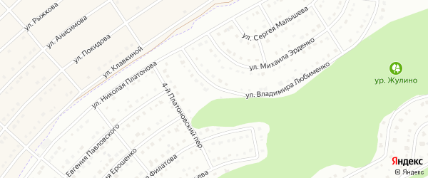 Улица Владимира Федорова на карте Белгорода с номерами домов