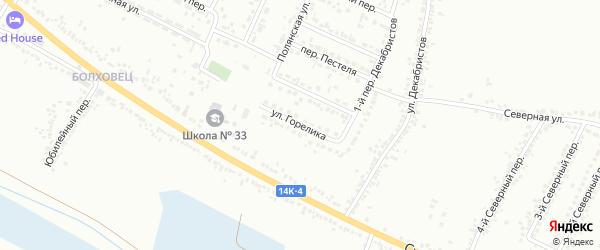 Улица Горелика на карте Белгорода с номерами домов