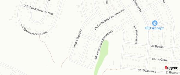Переулок Вячеслава Денисова на карте Белгорода с номерами домов