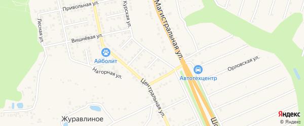 Луговой переулок на карте Строителя с номерами домов