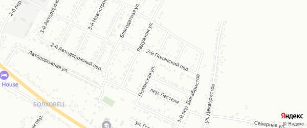 Полянская улица на карте Белгорода с номерами домов