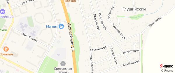 Московская улица на карте Строителя с номерами домов