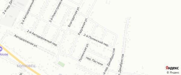 Полянский 2-й переулок на карте Белгорода с номерами домов
