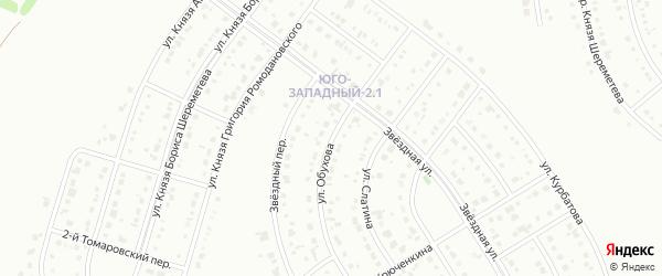 Улица Обухова на карте Белгорода с номерами домов