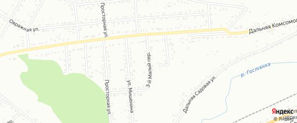 Огородный 3-й переулок на карте Белгорода с номерами домов