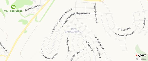 Территория Юго-Западный район на карте Белгорода с номерами домов