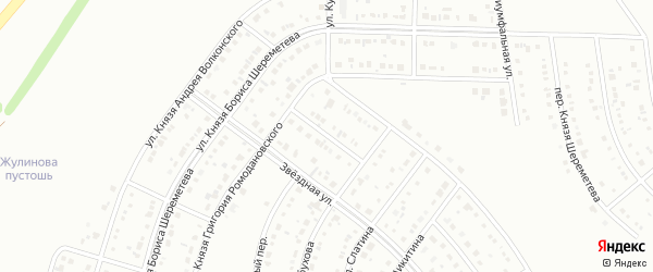 Переулок Князя Ромодановского на карте Белгорода с номерами домов
