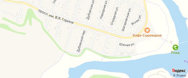 Народный переулок на карте Майского поселка с номерами домов